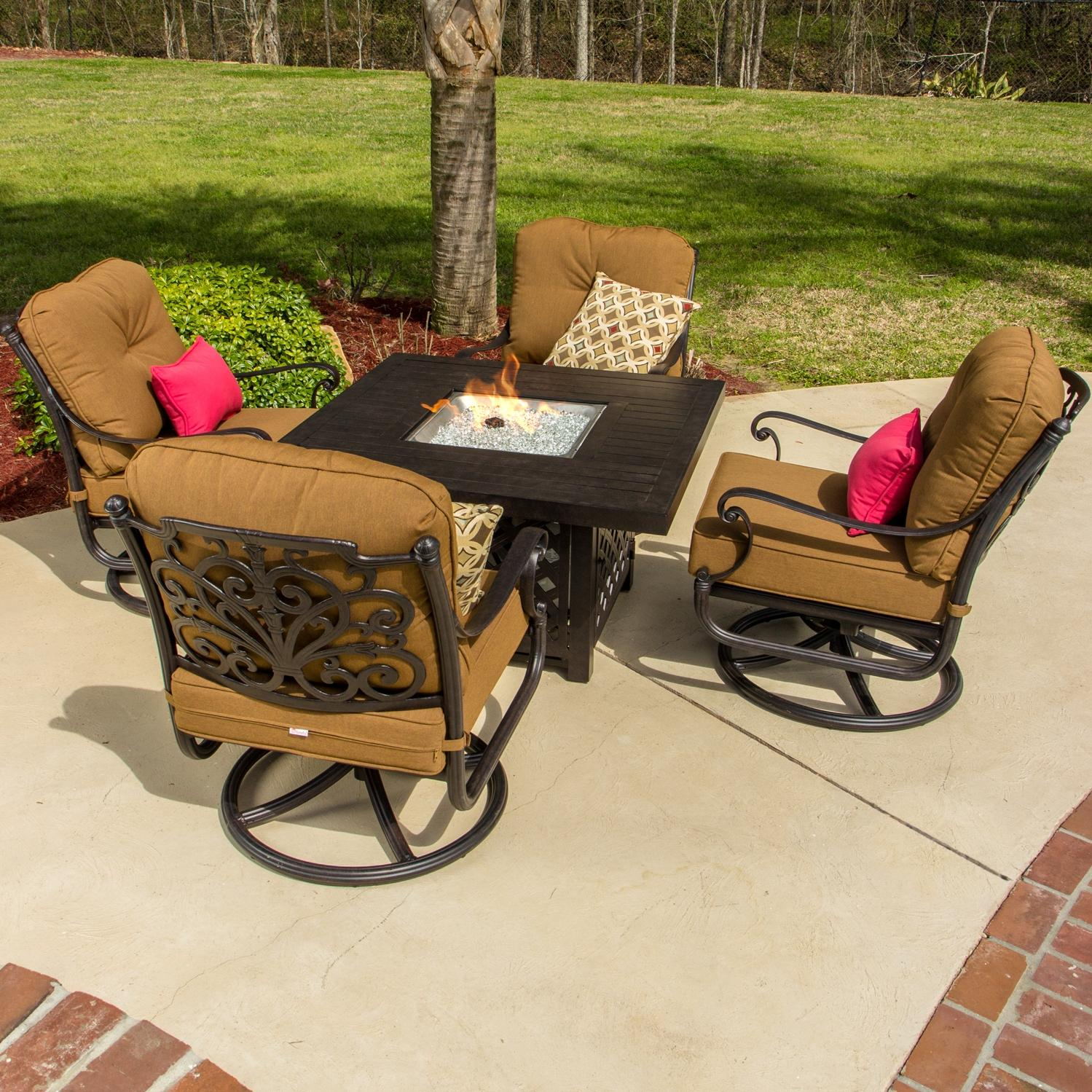 Patio Outdoor Furniture Set with Fire table